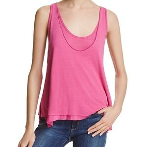 NWT Free People Pink Layered Top